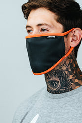 HYPE ADULT GREY & ORANGE FACE MASK