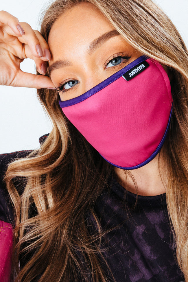 HYPE ADULT PINK & PURPLE FACE MASK