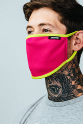 HYPE ADULT PINK & YELLOW FACE MASK
