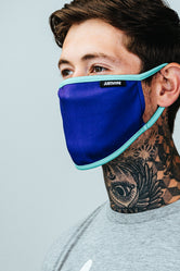HYPE ADULT BLUE & LIGHT BLUE FACE MASK