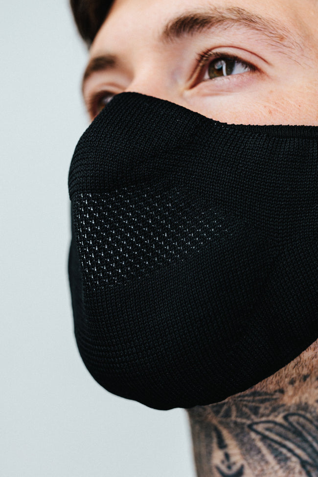 HYPE ADULT BLACK KNIT FACE MASK