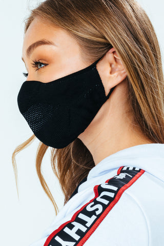 HYPE 2X ADULT BLACK KNIT FACE MASK