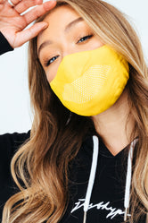 HYPE ADULT YELLOW KNIT FACE MASK
