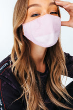 HYPE ADULT PINK KNIT FACE MASK