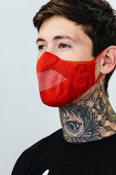 HYPE ADULT RED KNIT FACE MASK