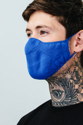 HYPE ADULT BLUE KNIT FACE MASK