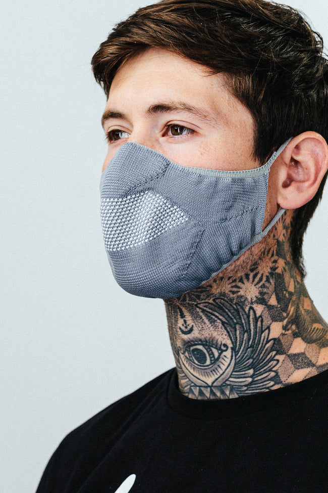 Hype Adult Grey Knit Face Mask