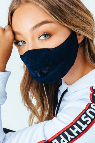 HYPE ADULT NAVY KNIT FACE MASK