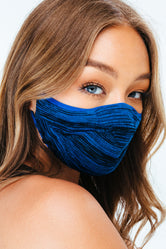 HYPE TECH KNIT BLUE MELANGE FACE MASK