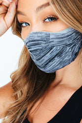 HYPE TECH KNIT GREY MELANGE FACE MASK
