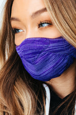HYPE ADULT PURPLE MELANGE KNIT FACE MASK