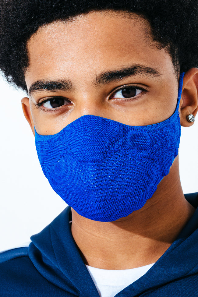Hype Kids Blue Knit Face Mask