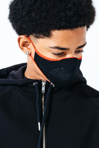 Hype Kids Black & Red Knit Face Mask
