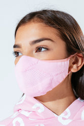 HYPE KIDS PINK KNIT FACE MASK