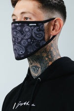 HYPE ADULT BLACK PAISLEY FACE MASK