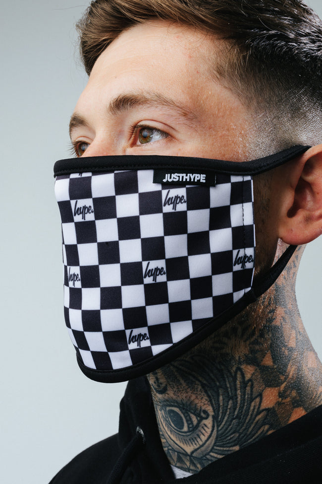HYPE ADULT CHECKERBOARD FACE MASK