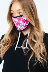 HYPE ADULT PINK GOTHIC LOGO FACE MASK