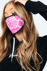 HYPE ADULT PINK SNAKE FACE MASK