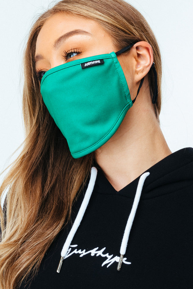 Hype Adult Forest Green Adjustable Face Mask