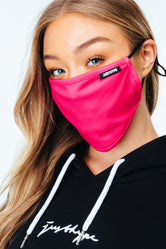 HYPE ADULT FUCHSIA PINK ADJUSTABLE FACE MASK