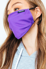 HYPE ADULT PURPLE ADJUSTABLE FACE MASK