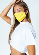 HYPE ADULT YELLOW ADJUSTABLE FACE MASK