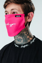 HYPE ADULT PINK FOIL SIGNATURE FACE MASK