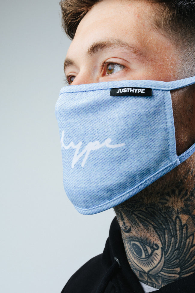 HYPE 3X ADULT MULTI DENIM (look) FACE MASK
