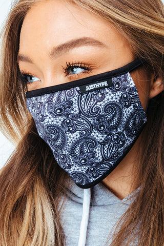 HYPE 3X ADULT WIDE FLORAL LACE FACE MASK SET