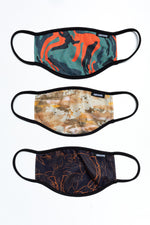 HYPE 3X ADULT DUNES CAMO FACE MASK SET