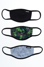 HYPE 3X KIDS ESSENTIAL CAMO FACE MASK SET