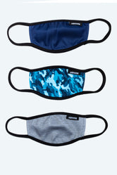 HYPE 3X KIDS AQUA CAMO FACE MASK SET