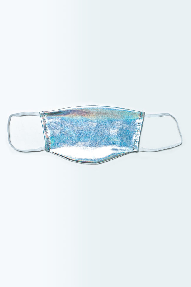 HYPE KIDS SILVER HOLO FACE MASK