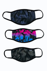 HYPE 3X ADULT TIE-DYE FADE FACE MASK SET