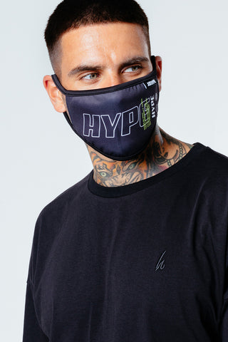 HYPE ADULT LOGO NEON POP FACE MASK