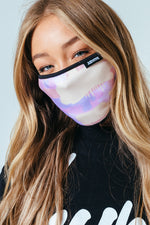 HYPE ADULT PASTEL GRAFFITI SPRAY FACE MASK