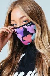 HYPE ADULT GRAFFITI HEARTS FACE MASK