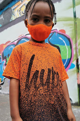 HYPE KIDS ORANGE KNIT FACE MASK