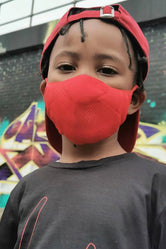 HYPE KIDS RED KNIT FACE MASK