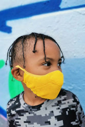 HYPE KIDS YELLOW KNIT FACE MASK
