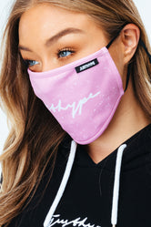 HYPE 2X ADULT SPECKLE SCRIPT FACE MASK