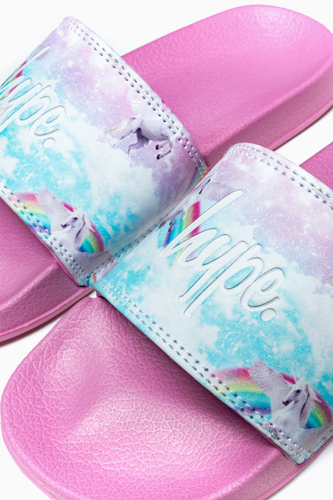 HYPE PINK UNICORN KIDS SLIDERS