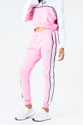 HYPE PINK TAPED PANEL KIDS JOGGERS