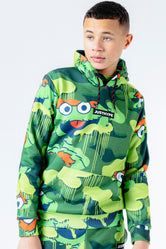 HYPE X SESAME STREET OSCAR THE GROUCH GREEN CAMO KIDS PULLOVER HOODIE