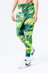 HYPE X SESAME STREET OSCAR THE GROUCH GREEN CAMO KIDS JOGGERS