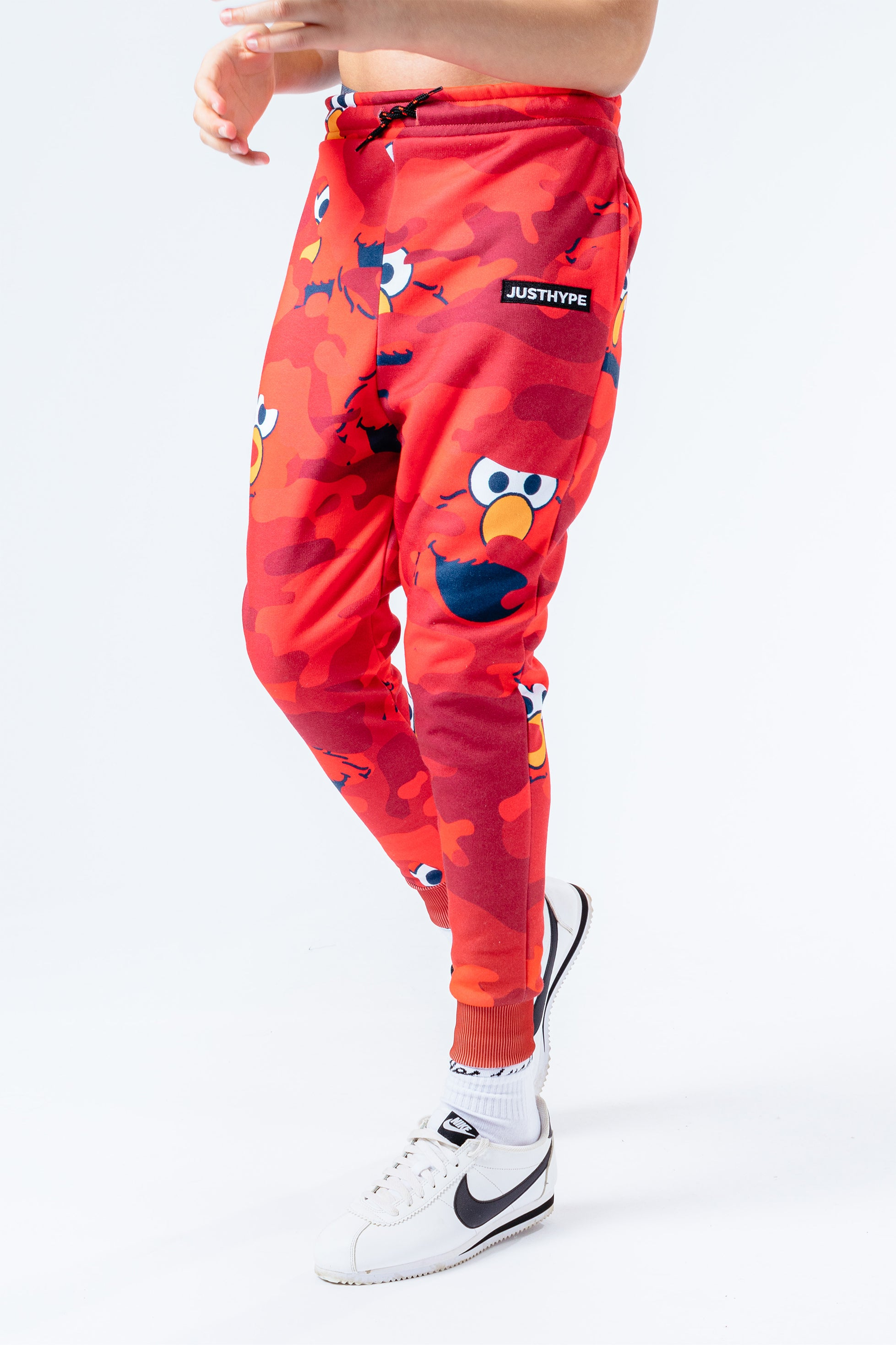 Hype X Sesame Street Elmo Red Camo Kids Red/multi Joggers | Size 7/8Y