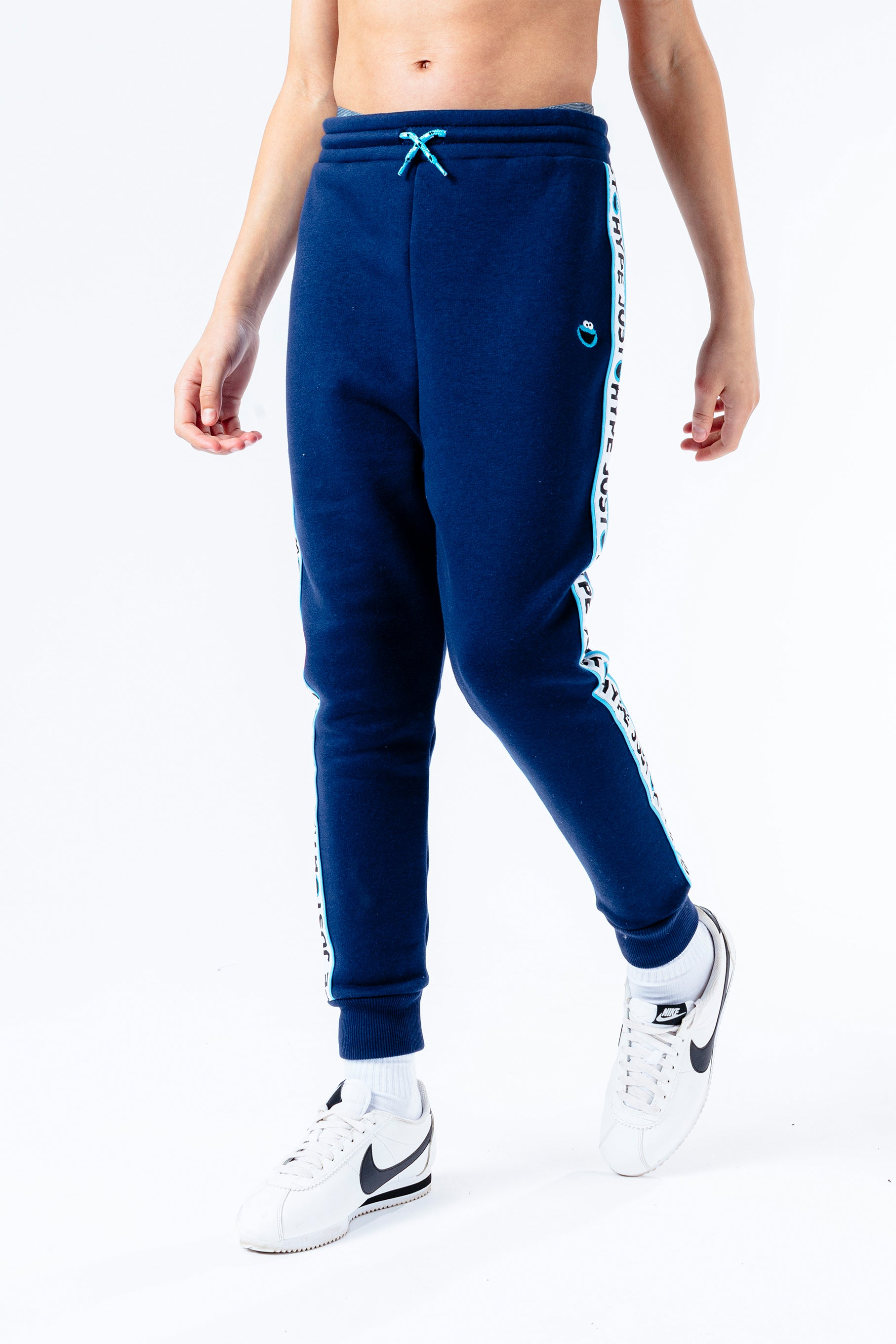 Hype X Sesame Street Cookie Monster Navy Taped Kids Navy/multi Joggers | Size 3/4Y
