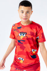 HYPE X SESAME STREET ELMO RED CAMO KIDS T-SHIRT