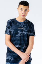 HYPE X SESAME STREET GREY CAMO REPEAT LOGO KIDS T-SHIRT