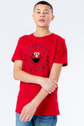 HYPE X SESAME STREET ELMO RED COG LOGO KIDS T-SHIRT